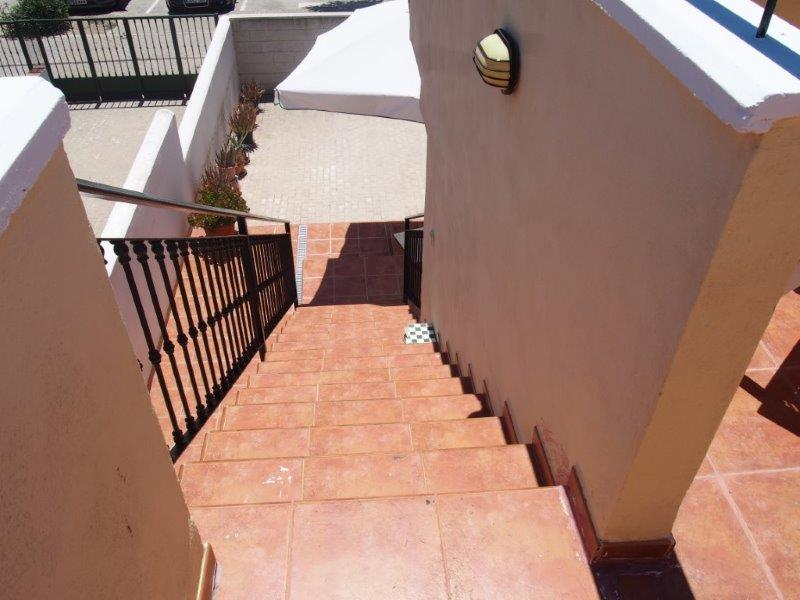 House for sale Vera Playa, patio stairs