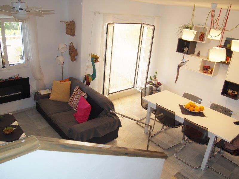 living room 3 slaapkamer duplex Mojacar te koop