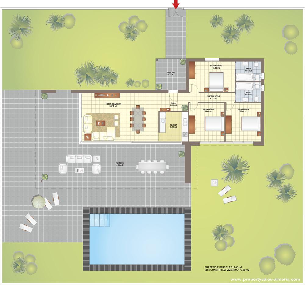 Nieuwbouwproject PSA-036 Villa Property Sales Almeria new