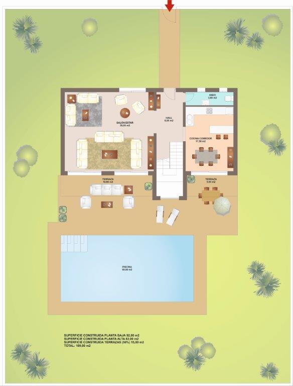 Vera Playa nieuwbouwproject te koop, zwembad