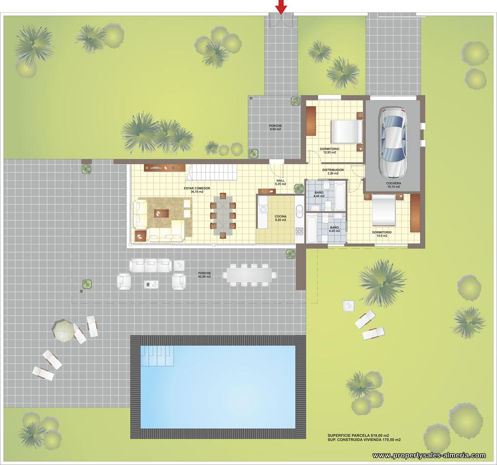 Villa nieuwbouwproject te koop Vera Playa , Spanje