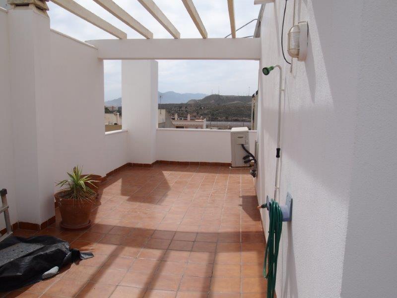 Te koop duplex woning in Palomares Almeria
